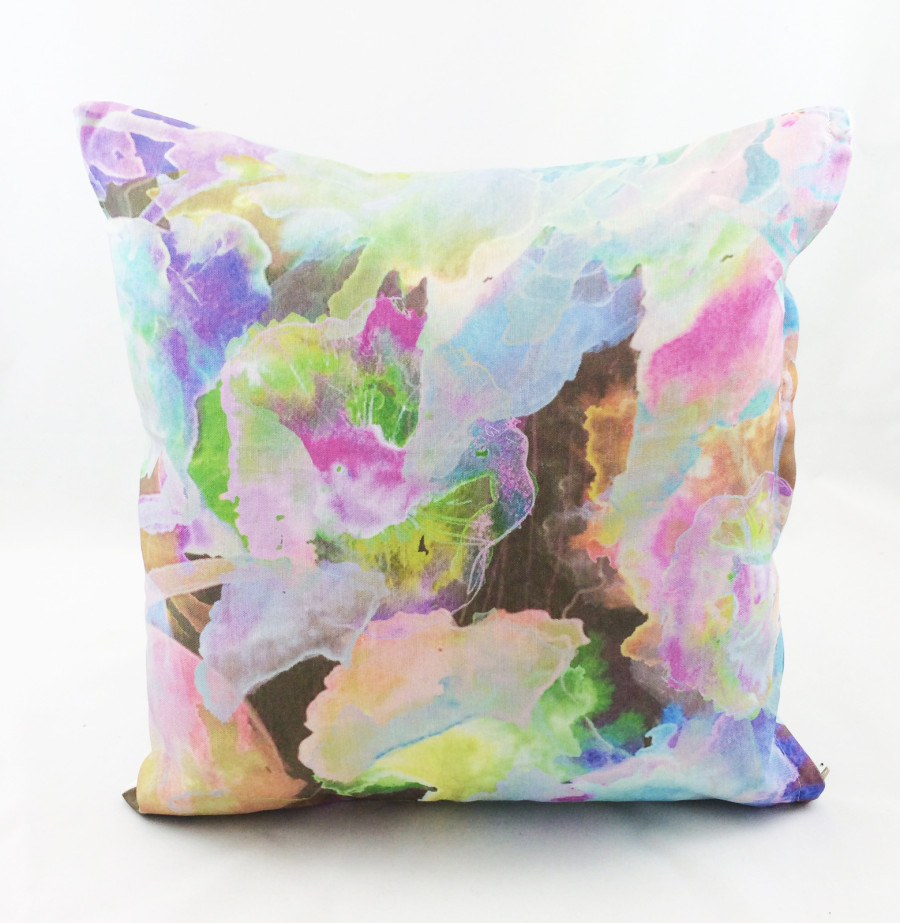 Cushion with print designed by Annie Everingham