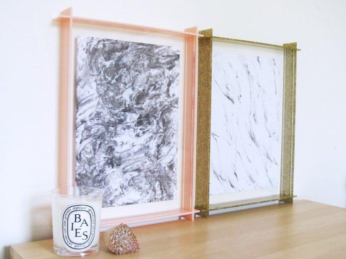 DIY marbled prints