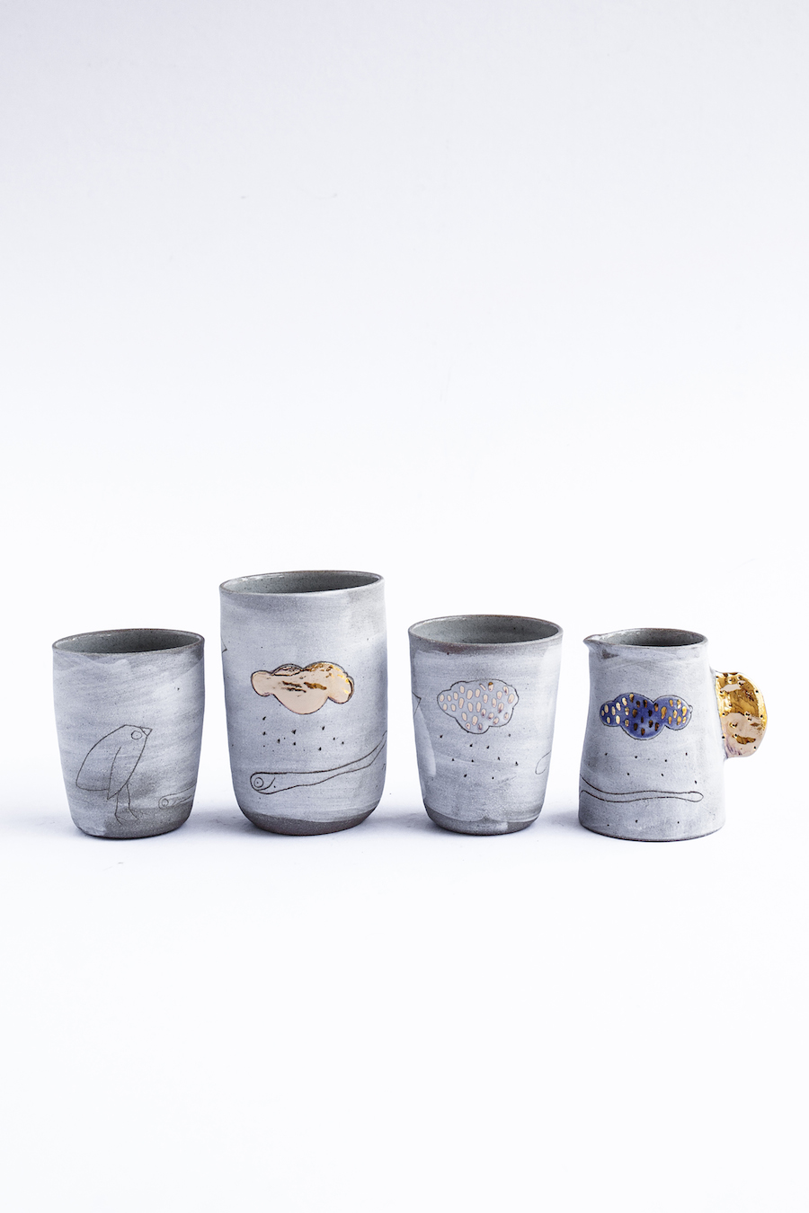 Bridget Bodenham grey mugs and cups
