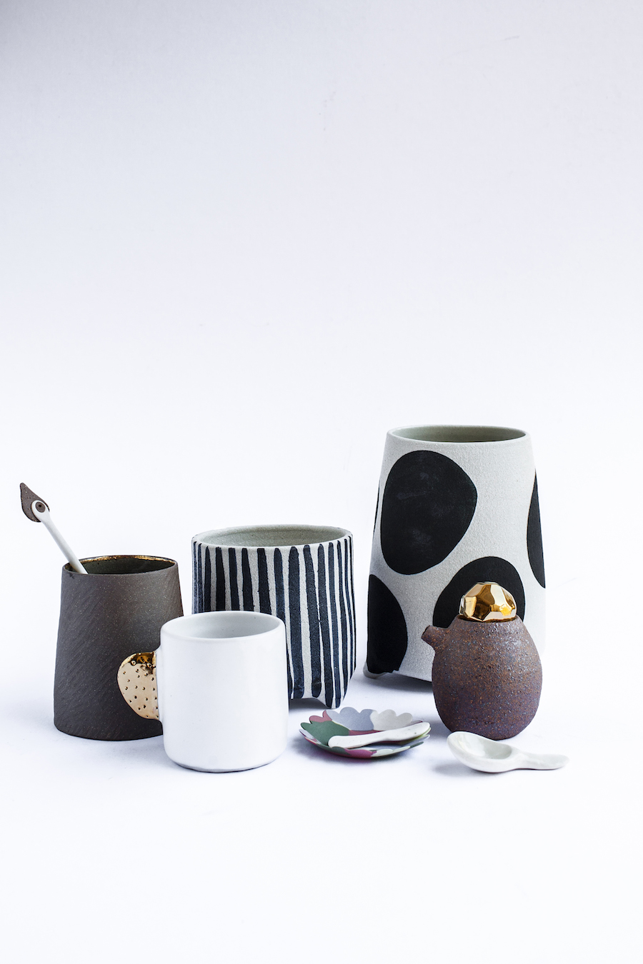 Bridget Bodenham ceramics with gold glazing