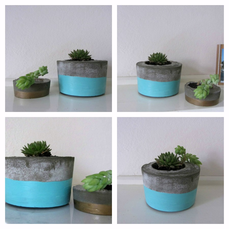 diy concrete planter l style curator shows you how. Black Bedroom Furniture Sets. Home Design Ideas