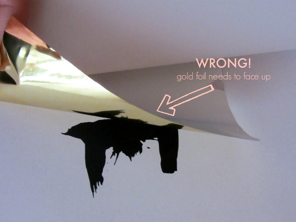 How to place gold foil
