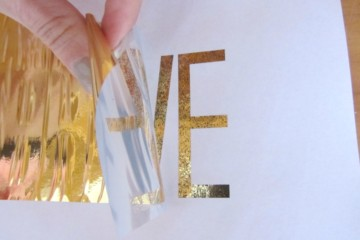 Peel away gold foil