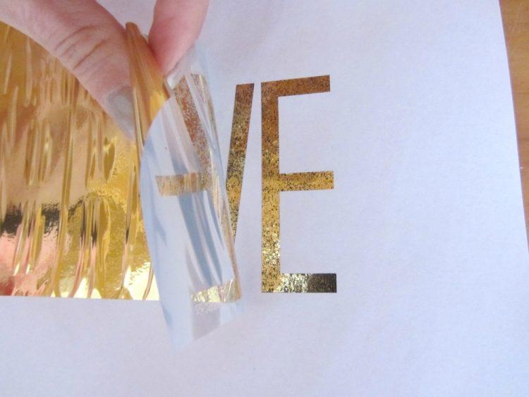 Gently peel back gold foil