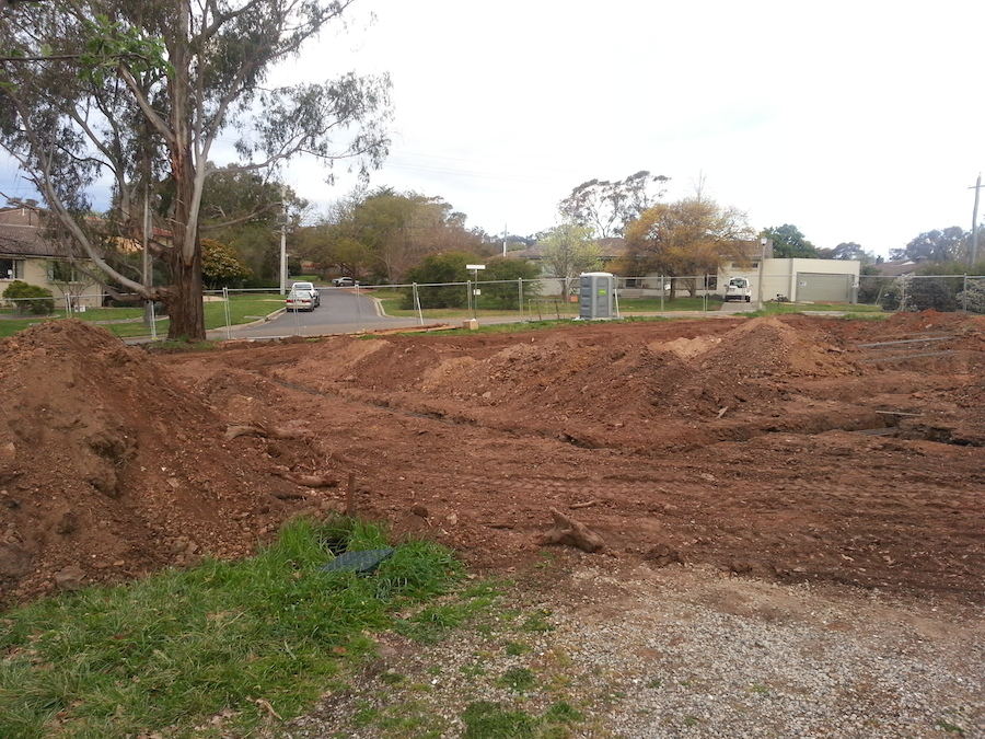 House footings dug