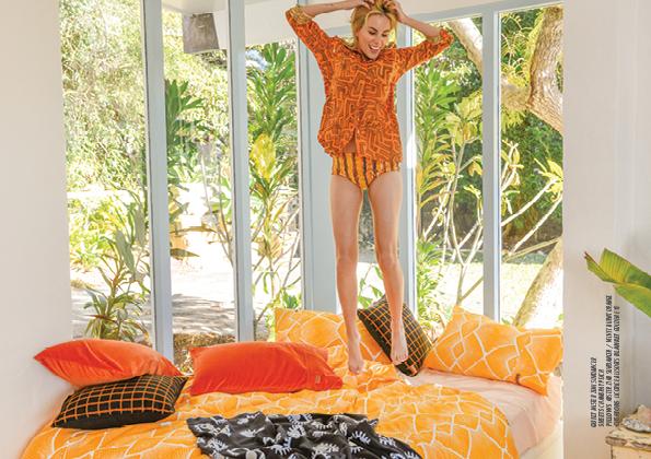 Orange Kip & Co quilt