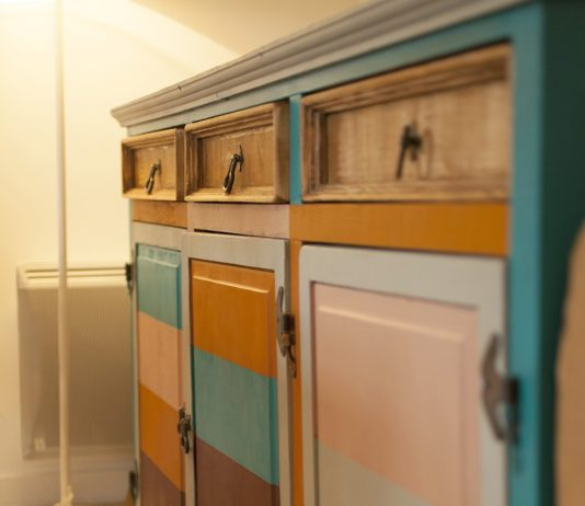 After sideboard makeover from side