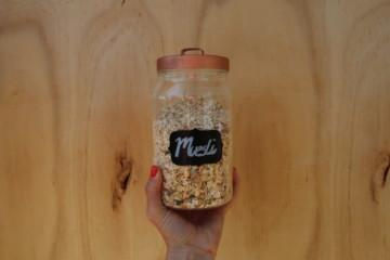 DIY blackboard label jar