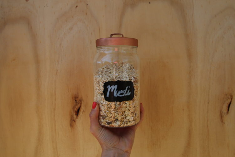 DIY blackboard label jar
