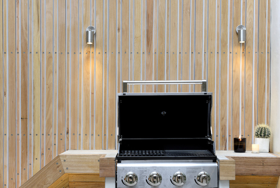In-built BBQ