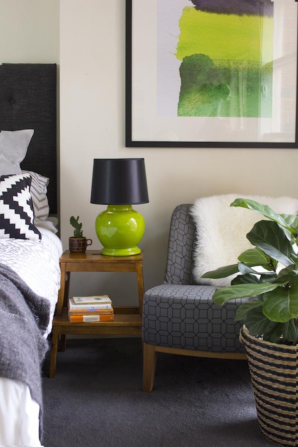 Cozy bedside nook