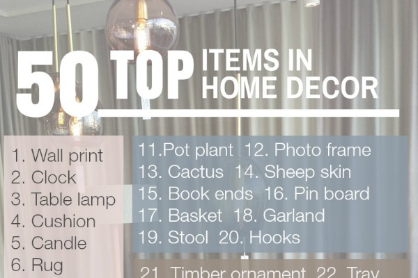 50 Top Items in Home Decor