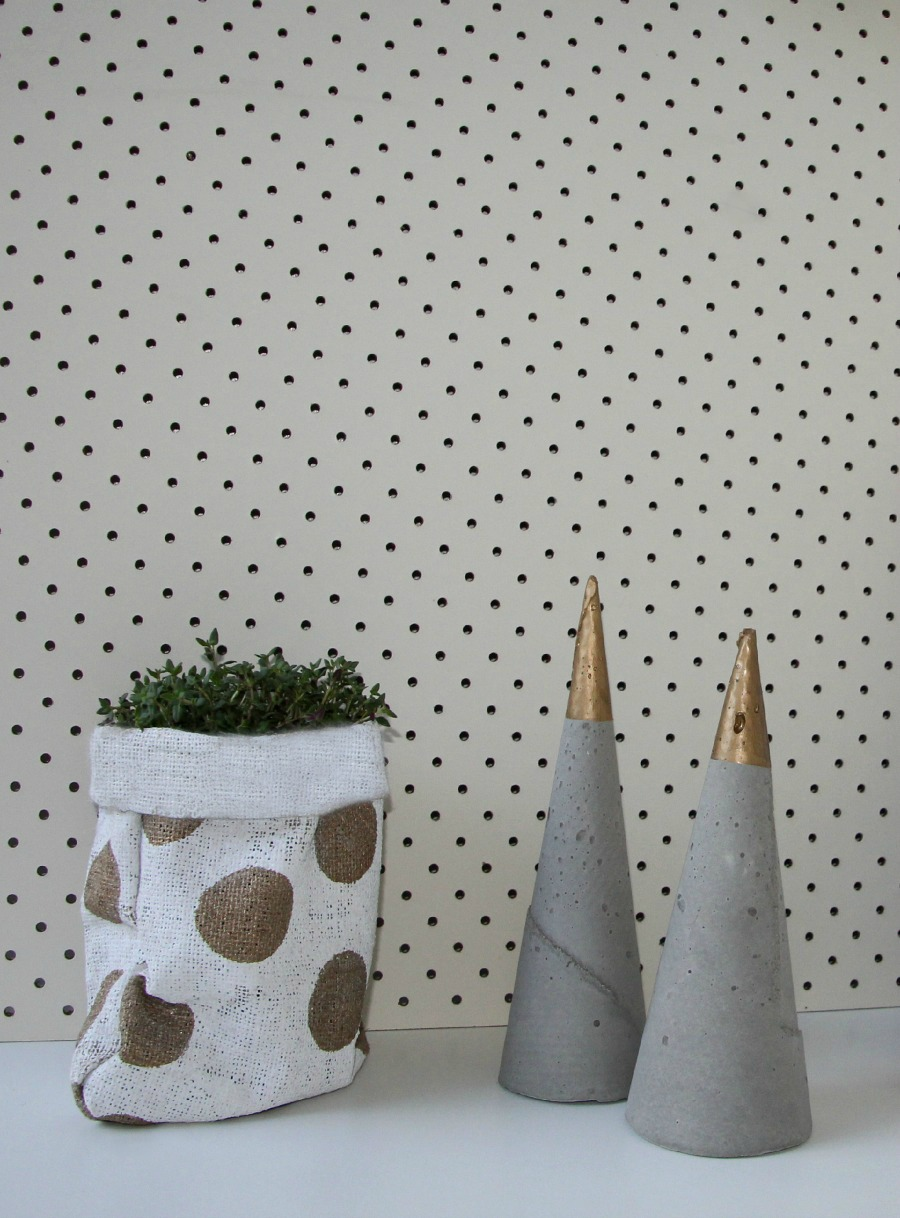 DIY Hessian Pot Holder
