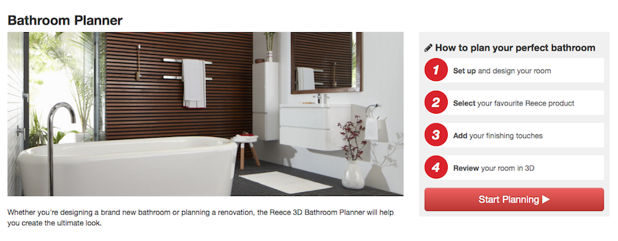 Reece 3D bathroom planner