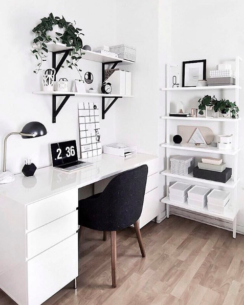 Black and white inspired officed