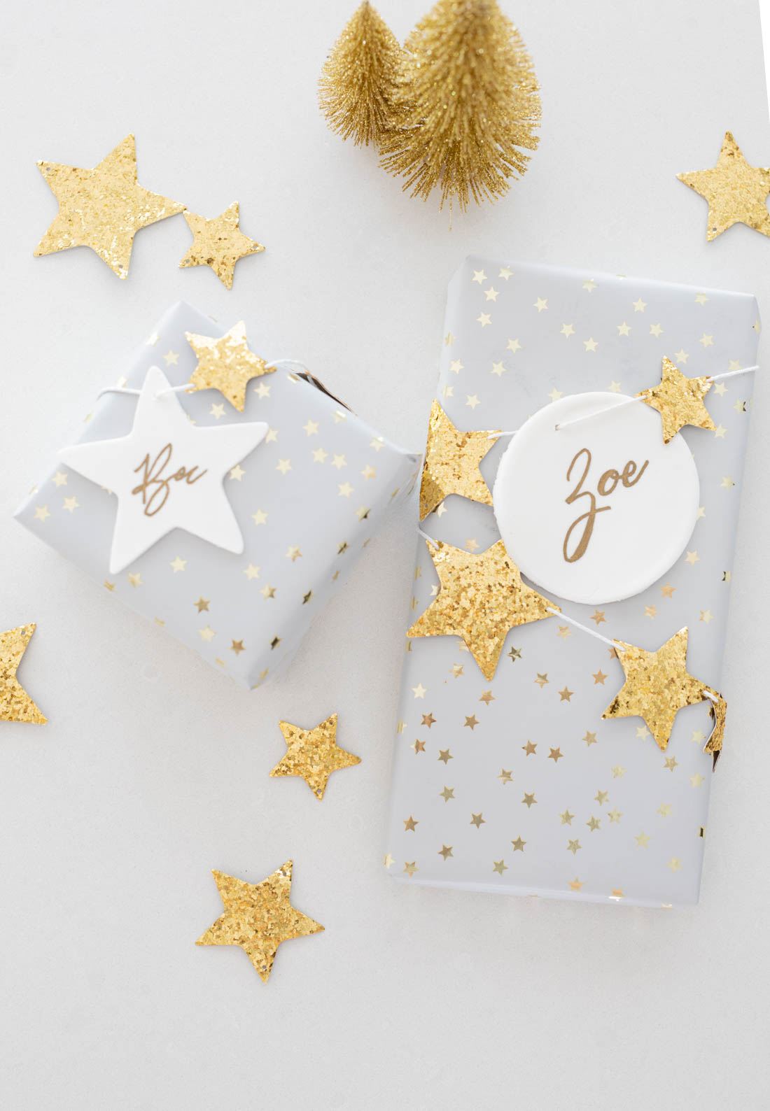 Special way to wrap gifts using DIY Christmas clay ornament