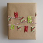 Bunting idea from 10 Christmas gift wrapping ideas 2014