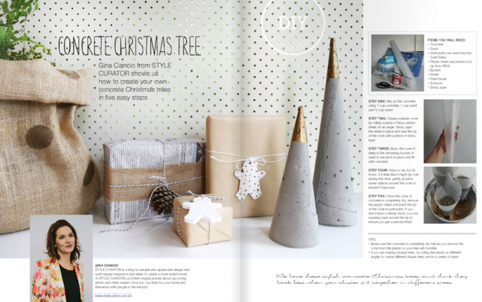 DIY Concrete Christmas Tree