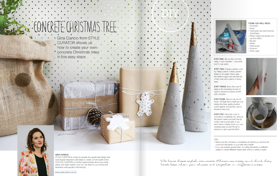 Diy Concrete Christmas Tree L Christmas Diys