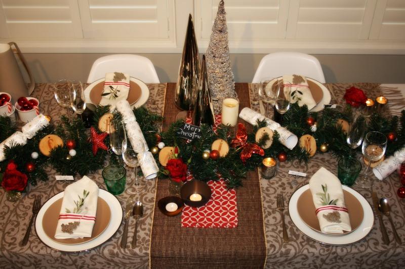 Traditional Christmas table