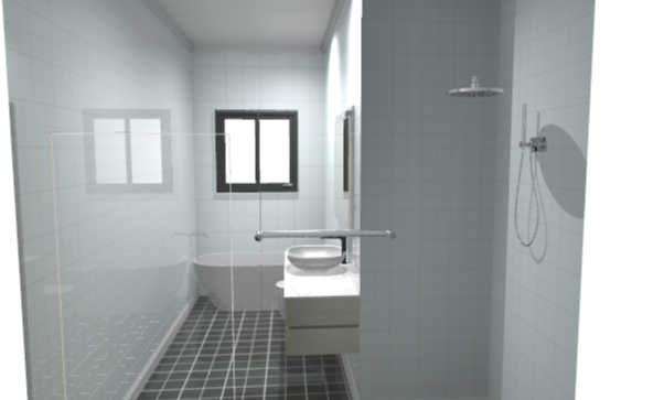 3D bathroom front ensuite design
