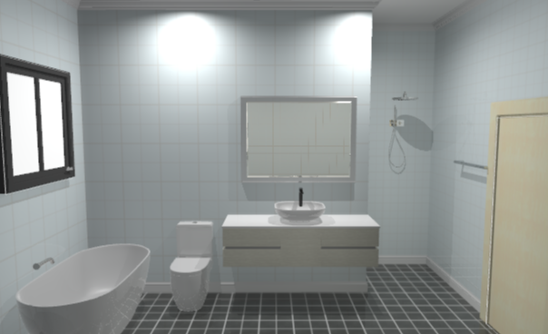 3D bathroom side