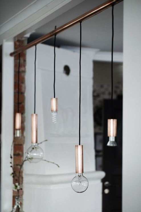 Copper pendant lights via Craft Hunter