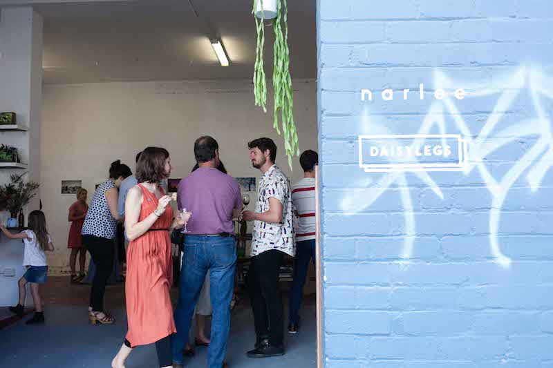 Daisylegs studio recently hosted the Narlee exhibition featuring a collection of unframed photography and hand painted tiles from local artists
