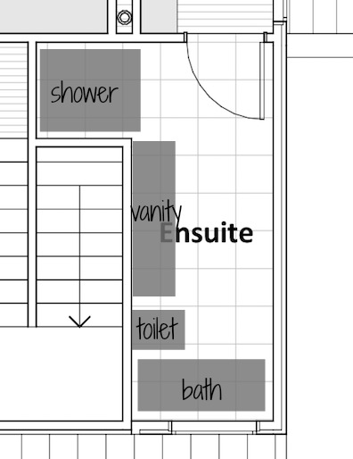 Ensuite floor plan layout