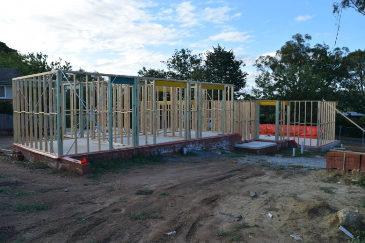 Front of house frames and trusses