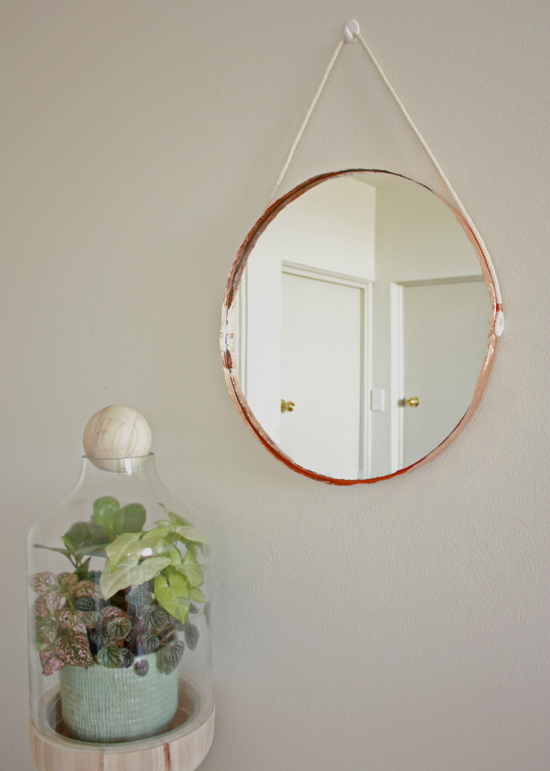 copper mirror via Makers Society