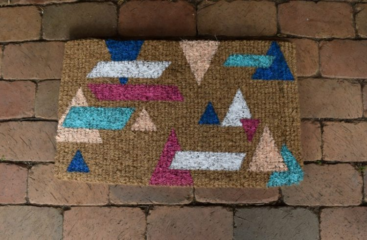 How to create geometric welcome mat