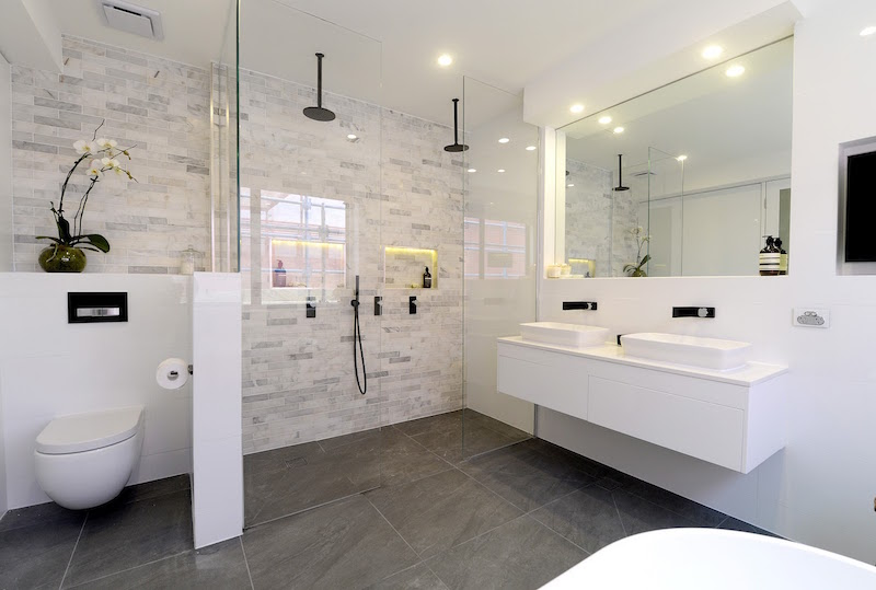 Block triple threat week 6 ensuite room reveals for Best ensuite designs