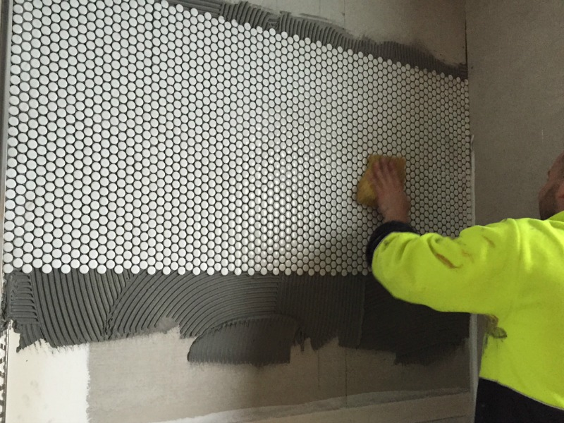 Tiling the feature wall