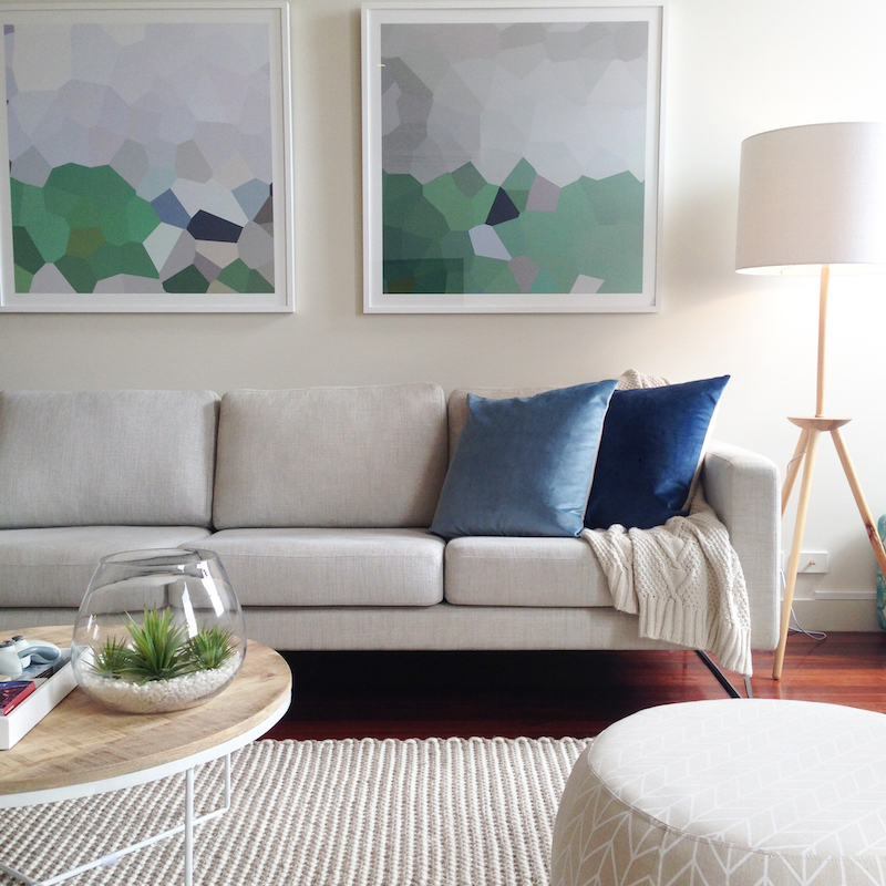 Living room styled by TRES
