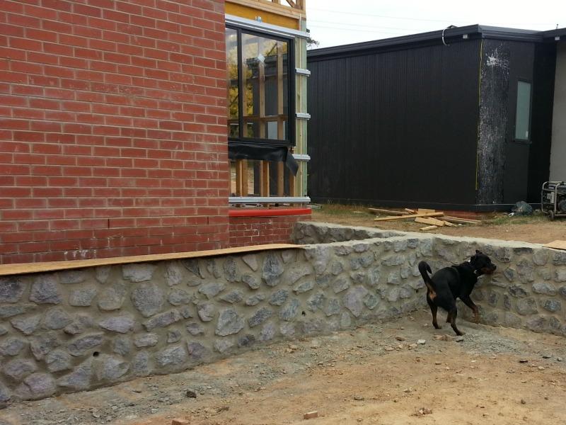 Construction update landscape walls
