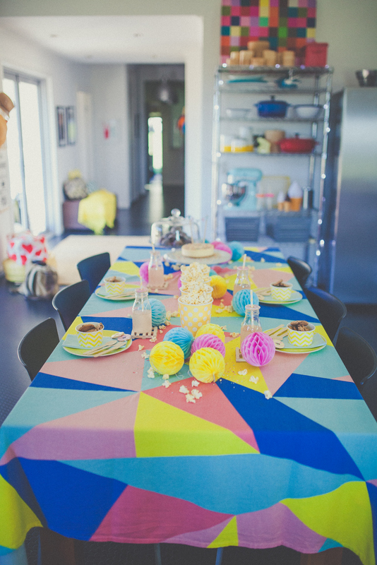 Colourful dining setting