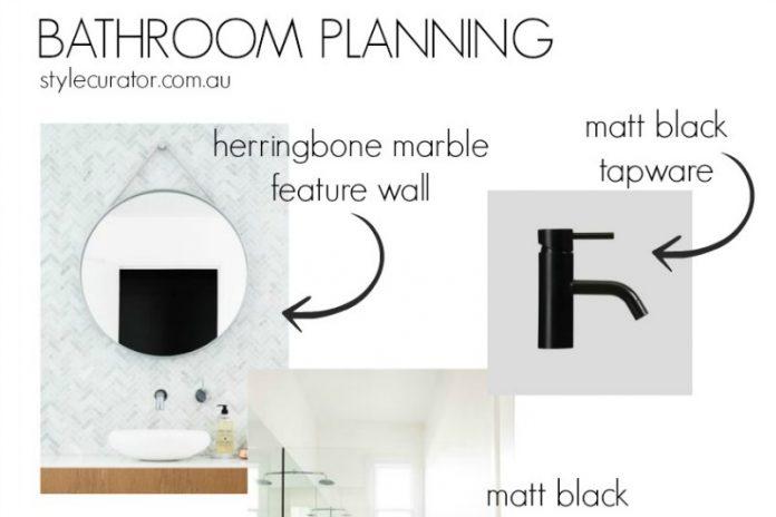 Bathroom planning feature