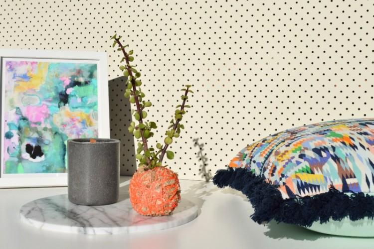 DIY mini moss ball planter