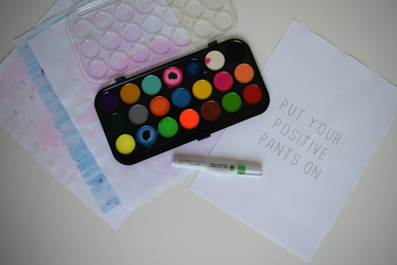 Items you will need DIY watercolour art