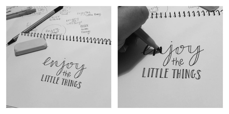 Fill in hand lettering