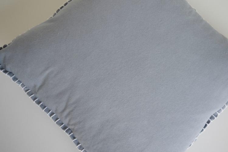 Finished DIY felt stitch cushion