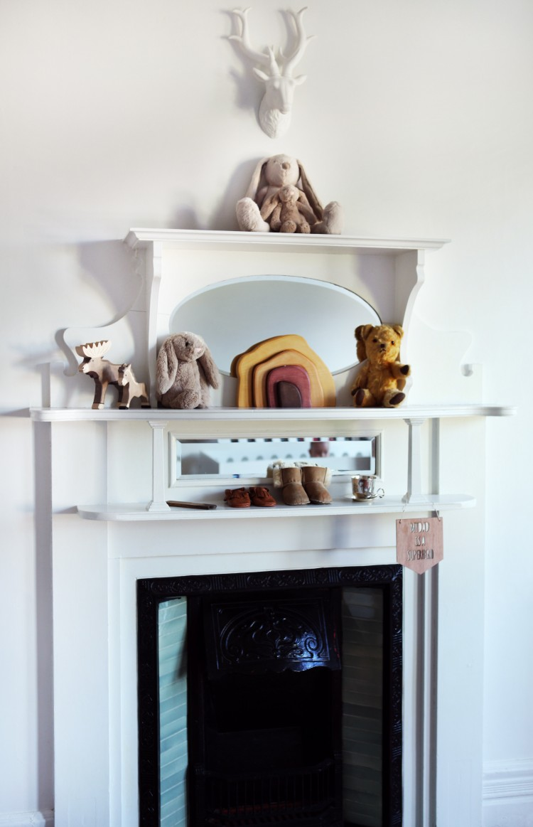 Styling above fire place