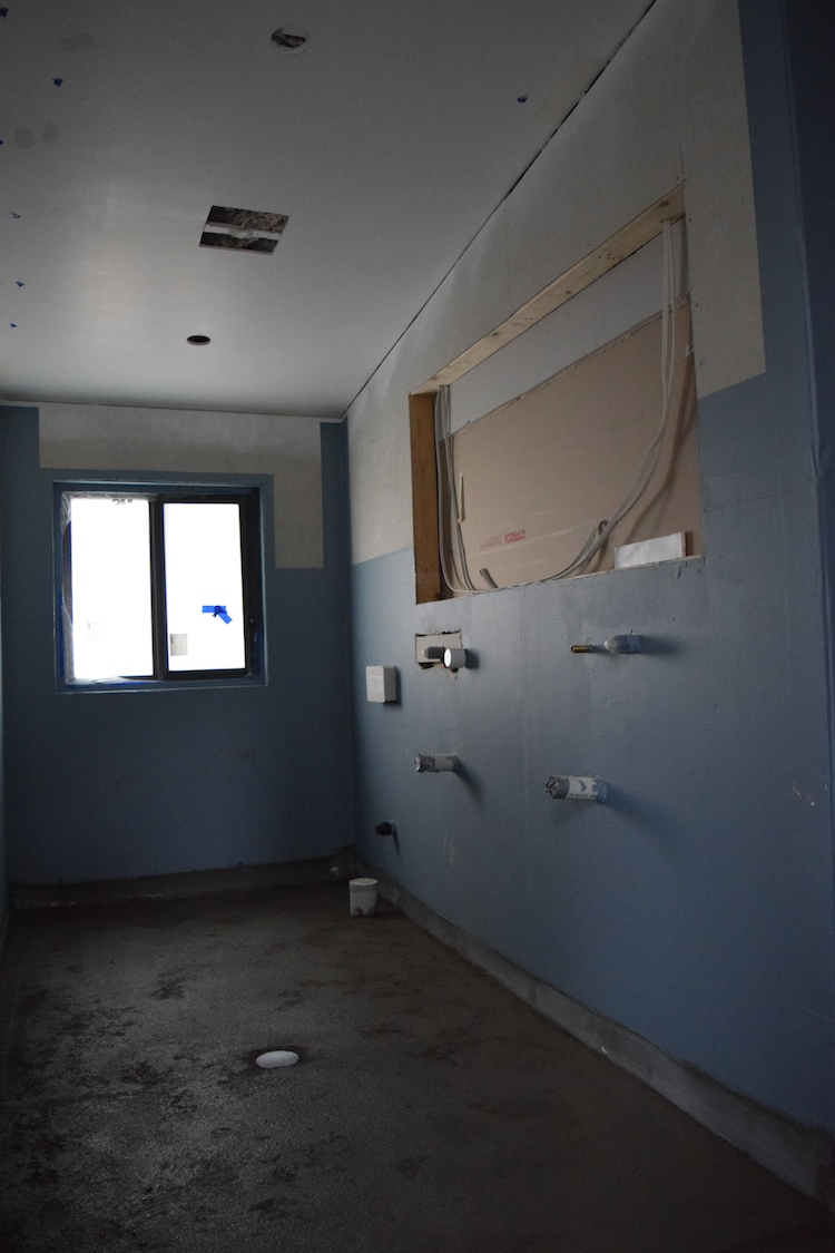 Ensuite construction update