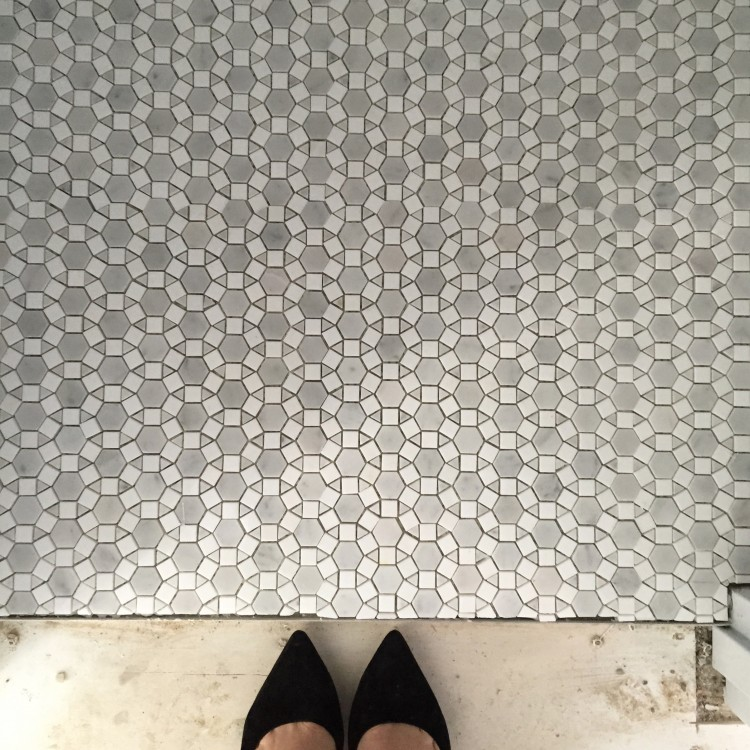 Powder room flooring