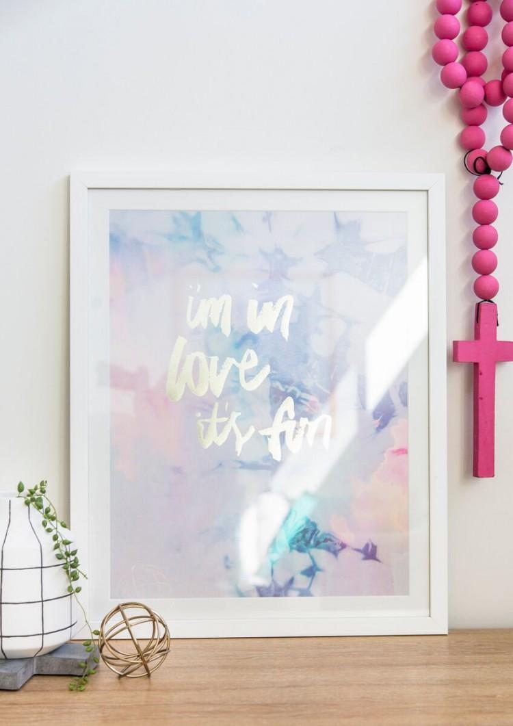 In love its fun print