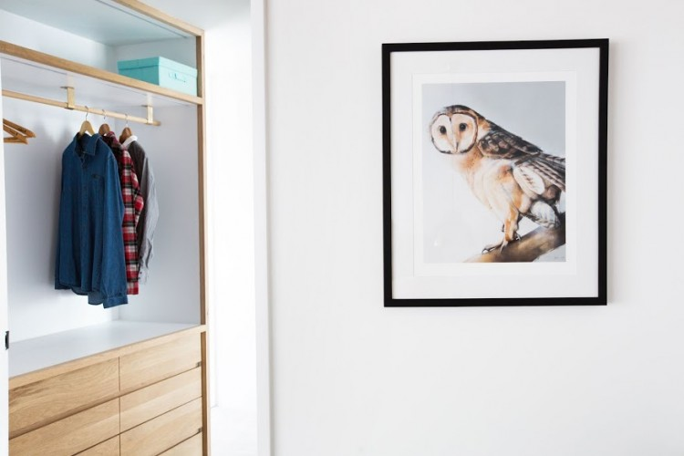 Owl artwork and wardrobe