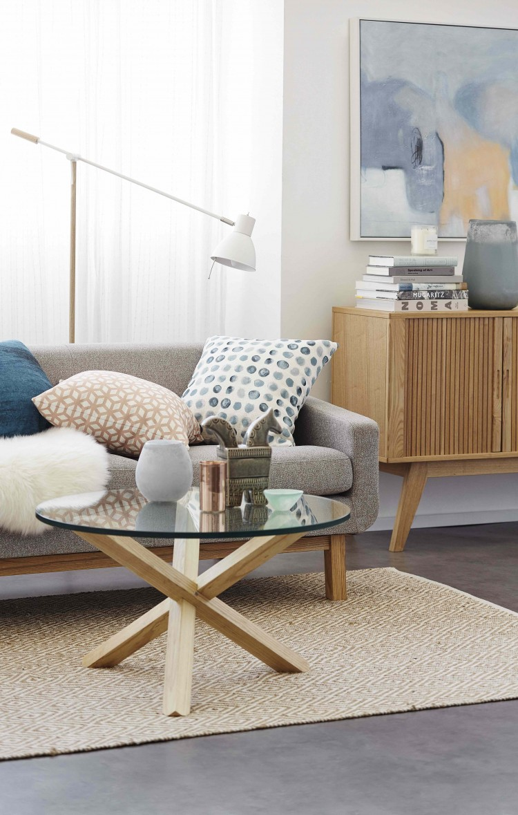 Soft living room palette