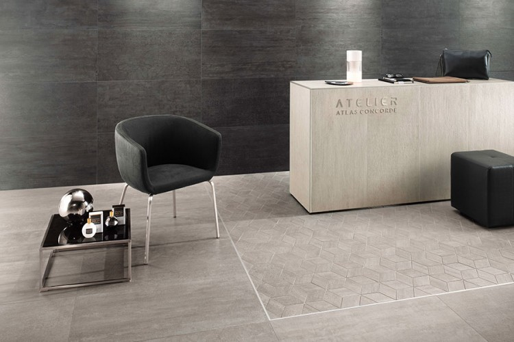 Geometric and rectangular floor tiles via Atlas Concorde