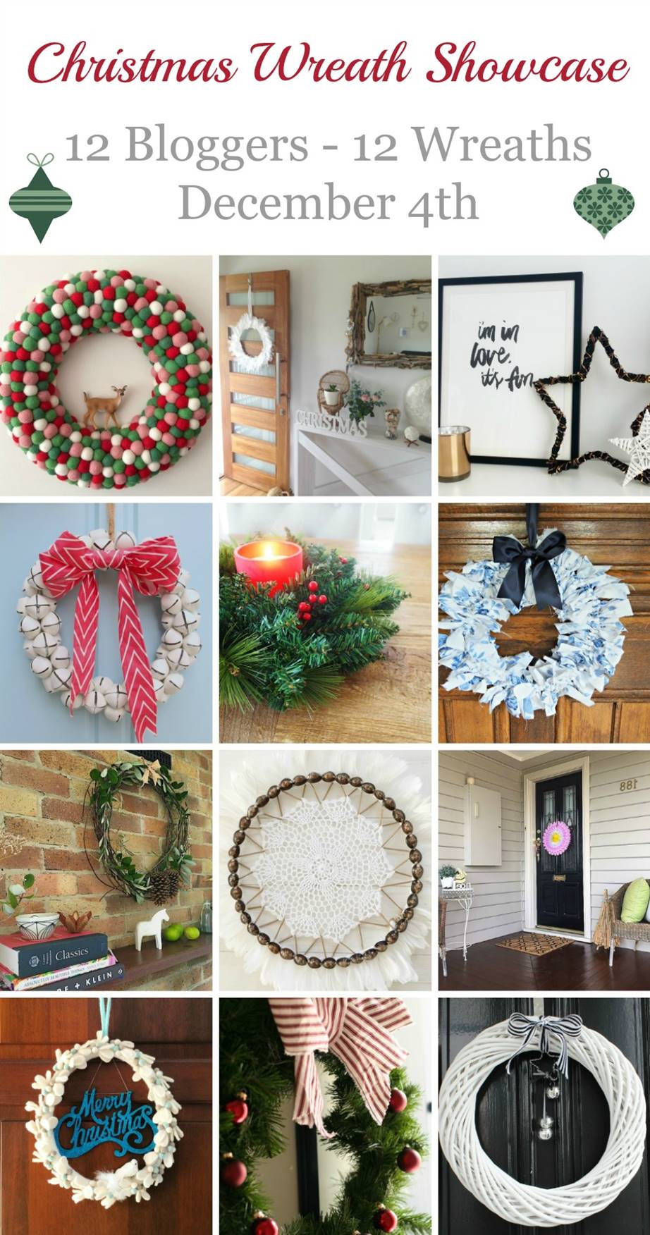Christmas wreath showcase